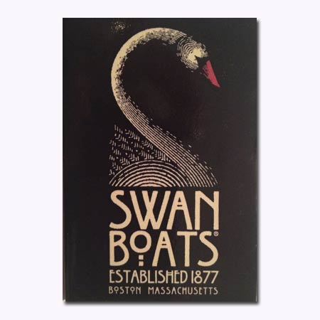 Swan Boats Shadow Magnet