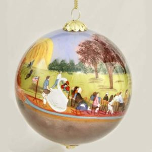 Swan Boats Ball Ornament